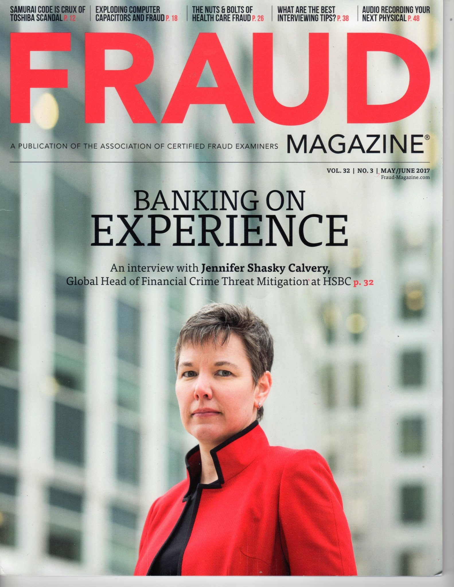 Fraud Magazine May/June 2017 Cover